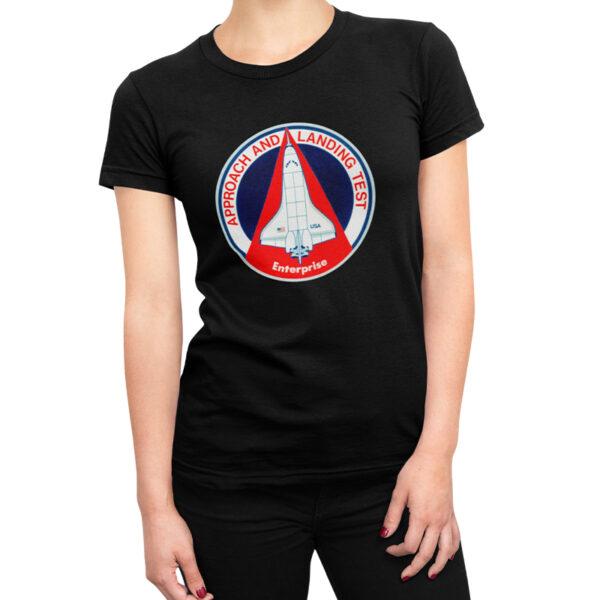 Camiseta Feminina Preta - 100% Algodão - Approach and Landing Tests