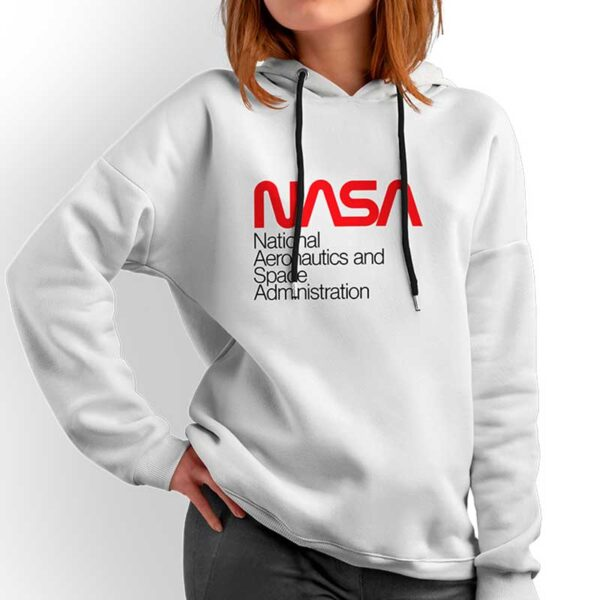 Moletom Unissex Branco - Sigla NASA