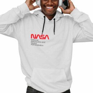 Moletom Unissex Branco – Sigla NASA