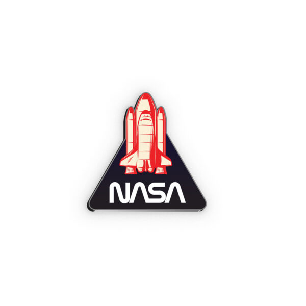 Pin - Foguete NASA Logo Worm