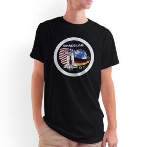 Camiseta Unissex Preta – 100% Algodão – Spacelab