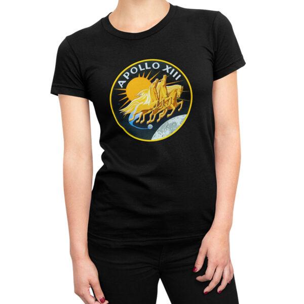 Camiseta Feminina Preta - 100% Algodão- Apollo 13