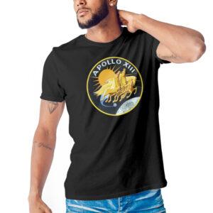 Camiseta Unissex Preta – 100% Algodão- Apollo 13