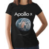 Camiseta Feminina Preta - 100% Algodão- Apollo X