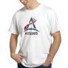 Camiseta Unissex Branca - 100% Algodão - Logo Missão Artemis
