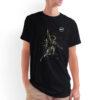 Camiseta Unissex Preta - 100% Algodão - Cosmonauta Logo NASA Meatball