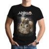 Camiseta Unissex Preta - 100% Algodão - Imagem Capsula e Logo Apollo 50 Anos