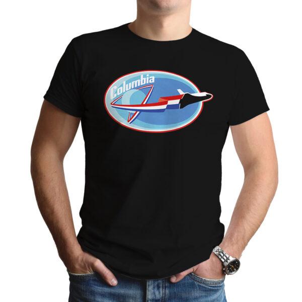 Camiseta Unissex Preta - 100% Algodão - Missão Columbia STS-4