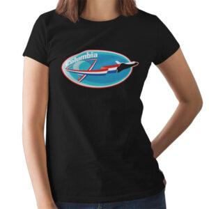 Camiseta Feminina Preta – 100% Algodão – Missão Columbia STS-4