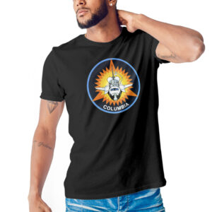 Camiseta Unissex Preta – 100% Algodão – Columbia
