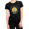 Camiseta Feminina Preta - 100% Algodão - Columbia