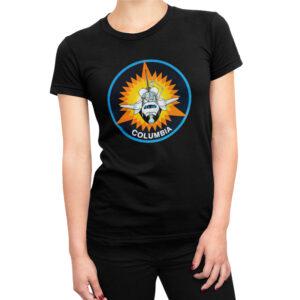 Camiseta Feminina Preta – 100% Algodão – Columbia