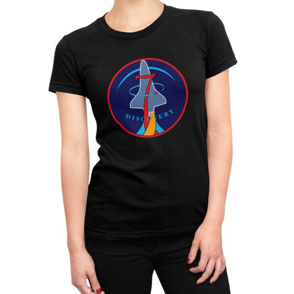 Camiseta Feminina Preta - 100% Algodão - Discovery
