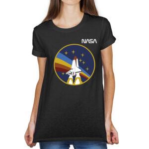 Camiseta Feminina Preta – 100% Algodão – STS-27