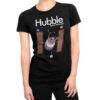 Camiseta Feminina Preta - 100% Algodão - Imagem Hubble