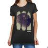 Camiseta Feminina Preta - 100% Algodão - Foto Em Negativo Da Lua Capturada Durante Missão Apollo 16