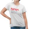 Camiseta Feminina Branca - 100% Algodão - Sigla NASA