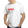 Camiseta Unissex Branca - 100% Algodão - Sigla NASA