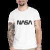 Camiseta Unissex Branca - 100% Algodão - Logo Worm