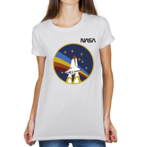 Camiseta Feminina Branca – 100% Algodão – STS-27