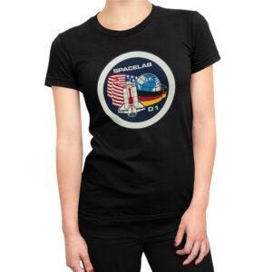 Camiseta Feminina Preta – 100% Algodão – Spacelab