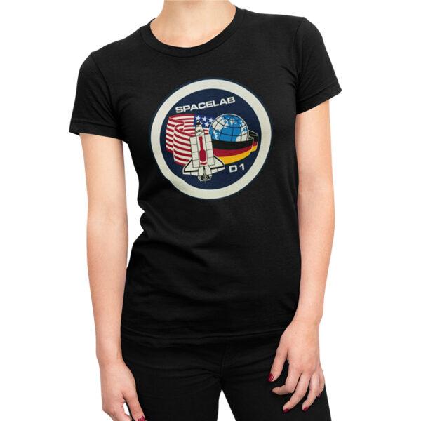 Camiseta Feminina Preta - 100% Algodão - Spacelab