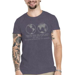 Camiseta Unissex Estonada – 100% Algodão – We Came In Peace