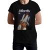 Camiseta Unissex Preta - 100% Algodão - Space Shuttle Atlantis