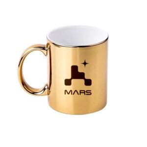 Caneca Cromada Dourada – Missão Mars